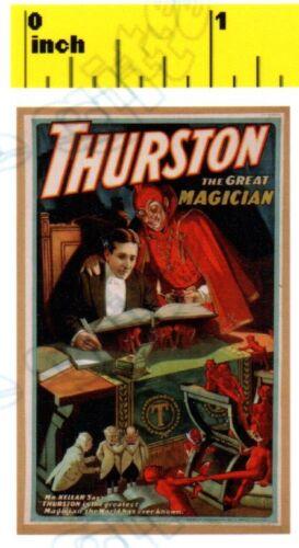 CDHM 1:12 DOLLSHOUSE  Mini Vintage Magic Magician Thurston Poster Print