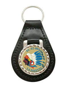 Escadron-de-Chasse-02-004-034-La-Fayette-034-French-Air-Force-Leather-Key-Fob