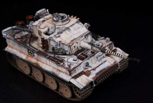 Built Tamiya 1//35 Michael Wittmann/'s Legendary Tiger Snow S04+PE 3 Days Ready