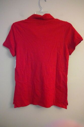 Details about  /NWT AEROPOSTALE Juniors Polo Shirts MEDIUM Red