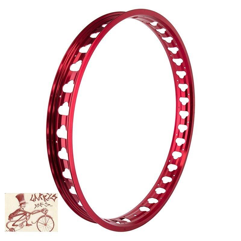 SE RACING BIKES JP60 FAT BIKE  36H---26   RED BICYCLE RIM  shop clearance