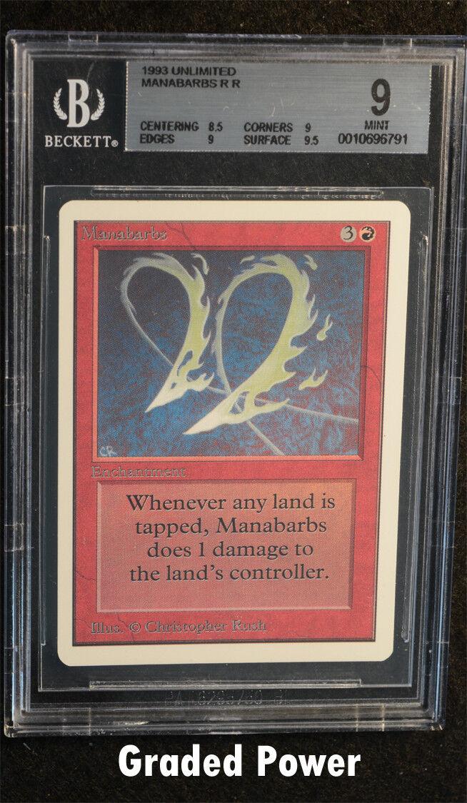 無制限のManabarbs 9(6791)マジックベケット傾斜MTG