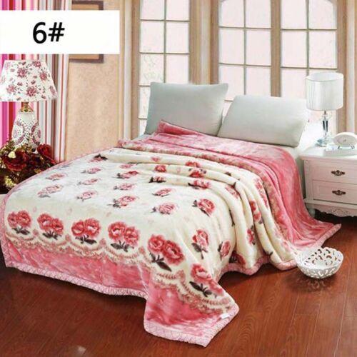 Luxury Heavy 2ply Winter Soft Warm Bed Blanket Full Size Double Flannel Blanket