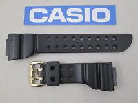 Genuine Casio G-shock Frogman Gw-225a Black Rubber Resin Watch Band Strap Japan