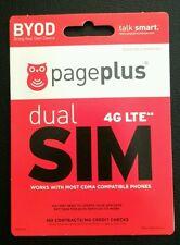 PagePlus 4G LTE MINI/Micro Sim Verizon 4G LTE Prepaid Preloaded Prefunded $39.95