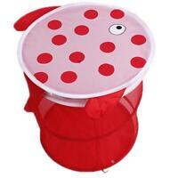 Folding Animal Print Bucket Baby Toy Laundry Clothes Net Basket Storage Box - 6A