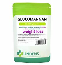 Glucomannan 500mg ( Konjac Fibre ) **90 Capsules** Weight Loss - Lindens