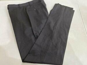 Calvin Klein Para Hombre De Solido Gris Mezcla De Lana Pantalones De Vestir 36 98 Nuevo Con Etiquetas Ebay