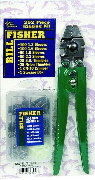 NEW Billfisher Rigging Kit 351 Pc wCN10 Crimper RK352