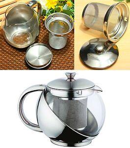Teekanne-0-75-L-Teezubereiter-mit-Edelstahlhalter-Teesieb-Kanne-Teekocher-NEU