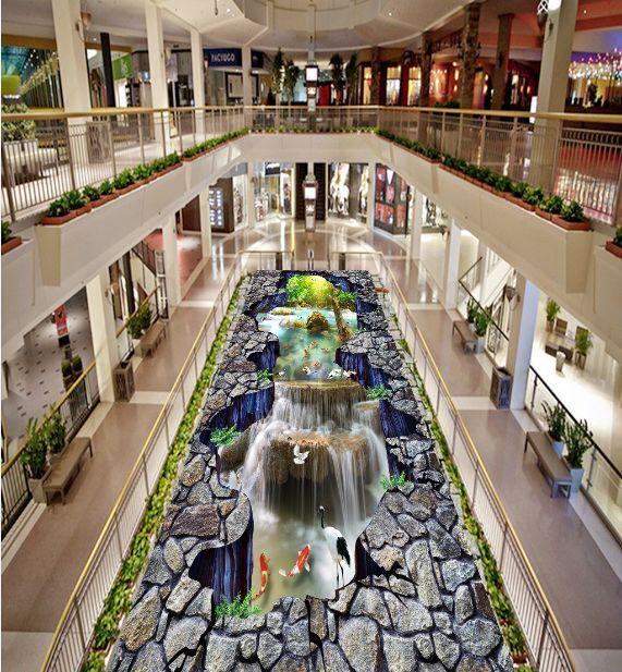 3D Klippen Wasserflle 388 Fototapeten Wandbild Fototapete BildTapete Familie DE