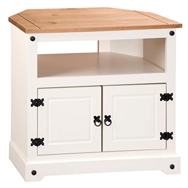 the latest 3c266 839f1 Mercers Furniture COPA25 CORONA Painted Corner TV Unit Cream Antique Pine