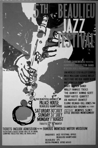 0633 Vintage Music Poster Art 5th Beaulieu Jazz Festival