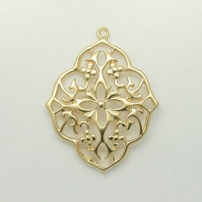 Filigree Pendants Charms - Necklace Earrings Bracelets Jewelry Making Supply #51