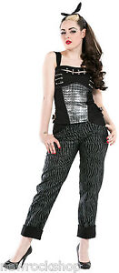 Black Rock Cotton Threads Top New Dead Punk Emo Ladies w4xTz6