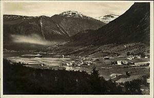 Olden-Norwegen-Norge-alte-AK-1930-Nordfjord-Fjord-Panorama-Berge-See-Dampfer