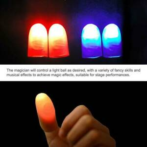 Magic Light Up Thumbs Fingers Led Trick Appearing Light Close Up Catch Game Ebay