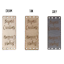 Fully Customisable Rectangle Centre Fold Foldable Faux Leather labels 20 x 50mm