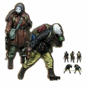 1-35-Resin-Figure-Model-Kit-Soldiers-Stalker-Metro-Chernobyl-2-Figures-Unpainted