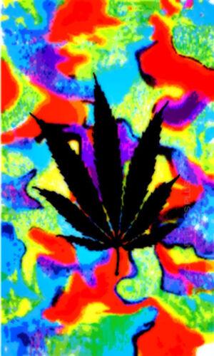 Flag 100/% Polyester With Eyelets Marijuana Tie Dye Flag 5 x 3 FT
