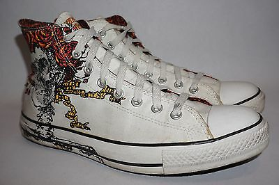 6afd0073dcc5 Converse All-Star Grateful Dead White Skull High Top Sneakers Men s Size 10