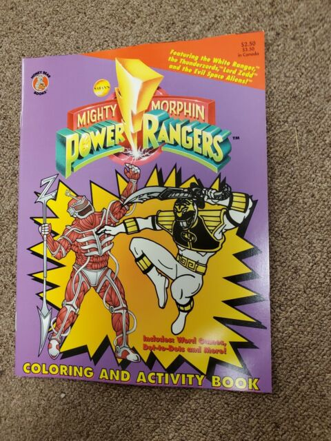 Power Rangers Coloring Activity Book Mighty Morphin 1994, NEW, Not Marked  On For Sale Online