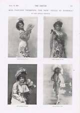 1901 Miss Fanchon Thompson su fiesta humo dibujos animados Rene Bull