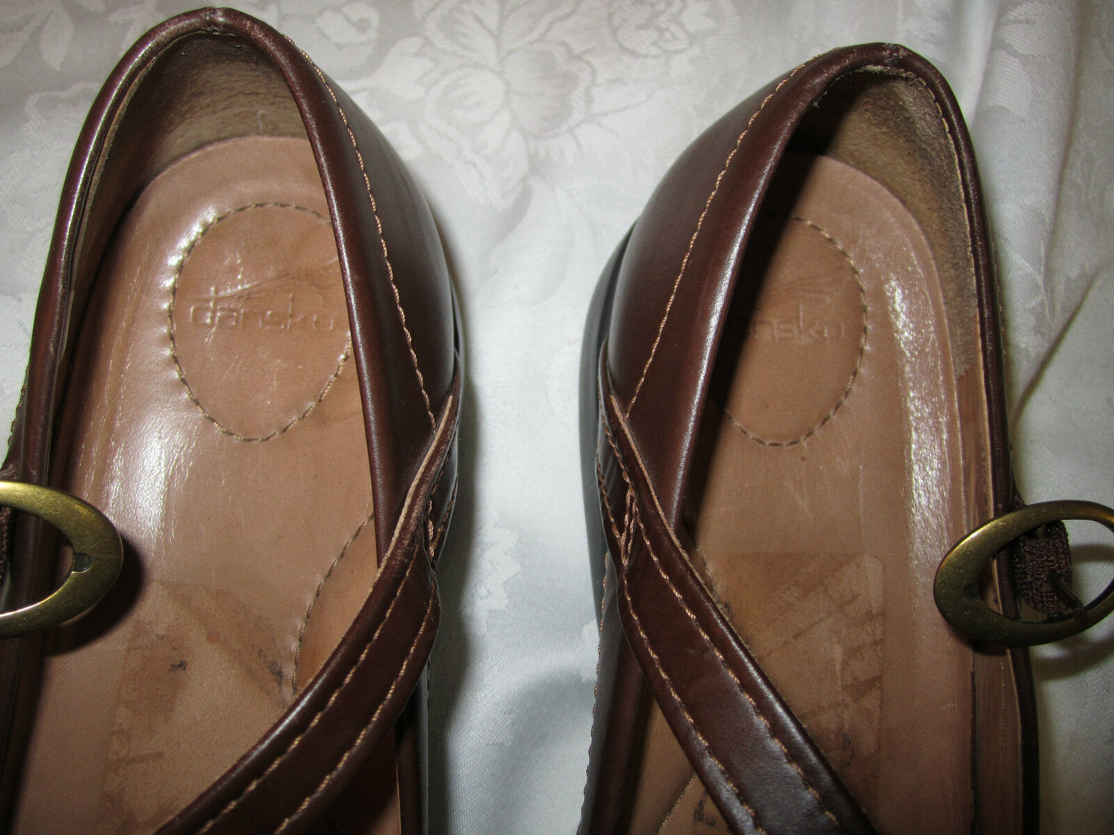 Dansko Damens's Dark Mary Jane Schuhes Beautiful Dark Damens's Braun Leder  Größe 41 EUC 19a889