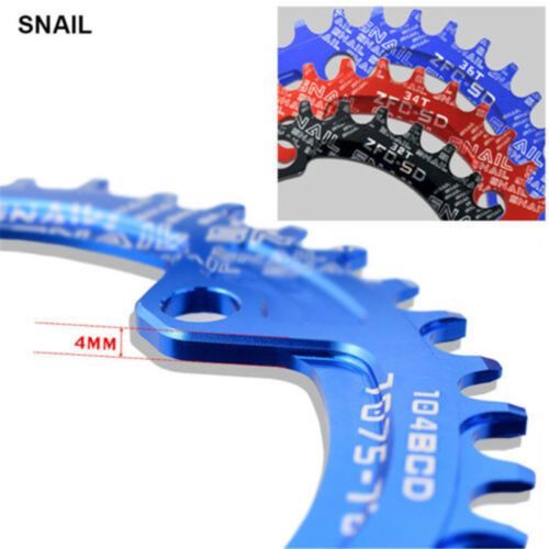 XT 104BCD Bicycle Chainring 32T//34T//36T Narrow Wide Round Oval Crankset Plate CA