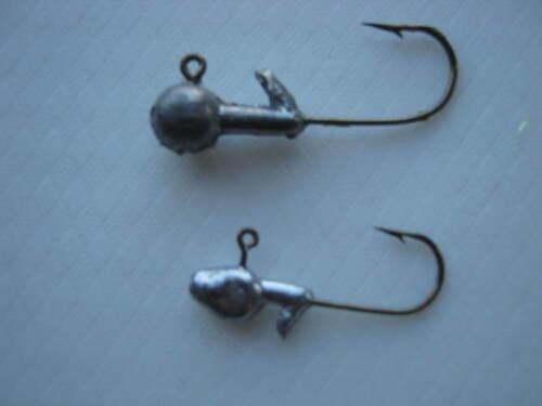 choice of size bronze hooks unpainted bulk jig heads 1000ct
