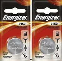 Energizer Ecr2450 Cr2450 (2 Piece) Br2450 Lithium 3v Battery Authorizedsellr