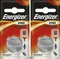 Energizer Ecr2450 Cr2450 (2 Piece) Br2450 Lithium 3v Battery Authorizedsellr