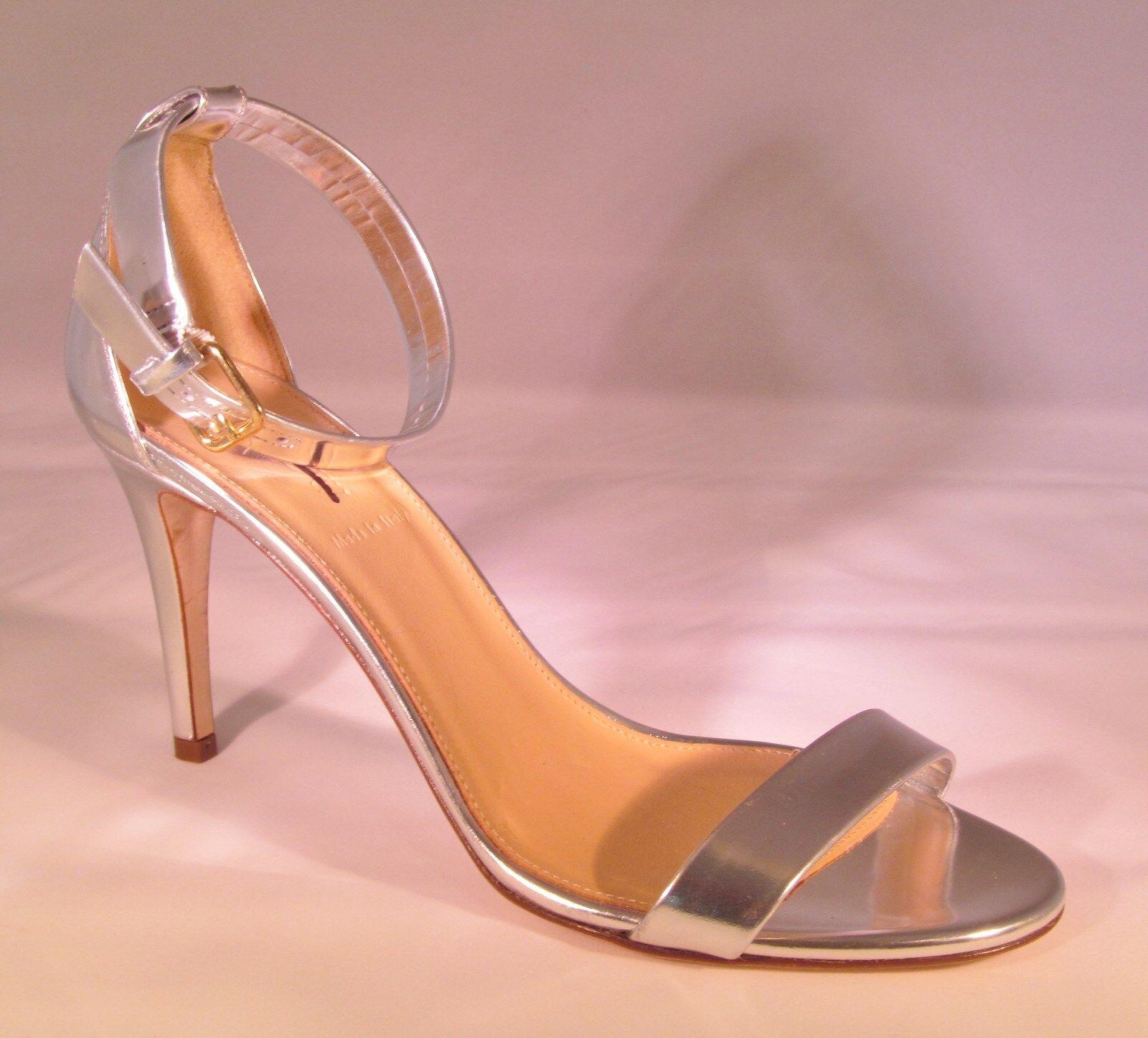J Crew Mirror Metallic High Heel Sandale 6 - Metallic Silver