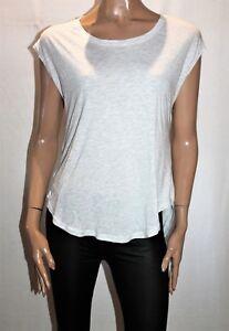 COTTON-ON-BODY-Brand-Light-Grey-White-Key-Sportswear-Tee-Size-S-BNWT-SZ41