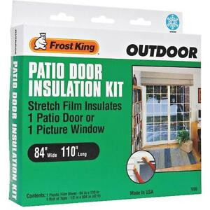 patio door or picture window stretch insulation kit