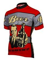 Red Beer Give Your Brain The Night Off Cycling Clothing Mtb Bike Jersey Fashion