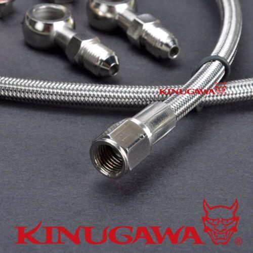 "Turbo Oil Feed Line Fit Mitsubishi TD04 TD05 //40/"" long M10x1.5 OF M14x1.5mm"