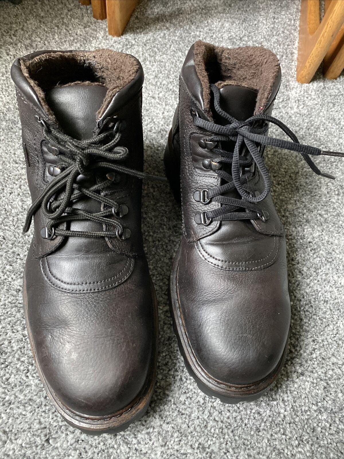 josef seibel mens boots Waterproof Leather Fleece Lined Uk 11 EU45