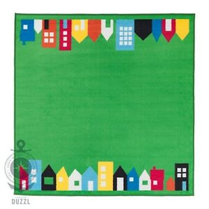 Ikea Kinder Teppich ikea hemmahos teppich in grün 133x133cm kinderzimmer