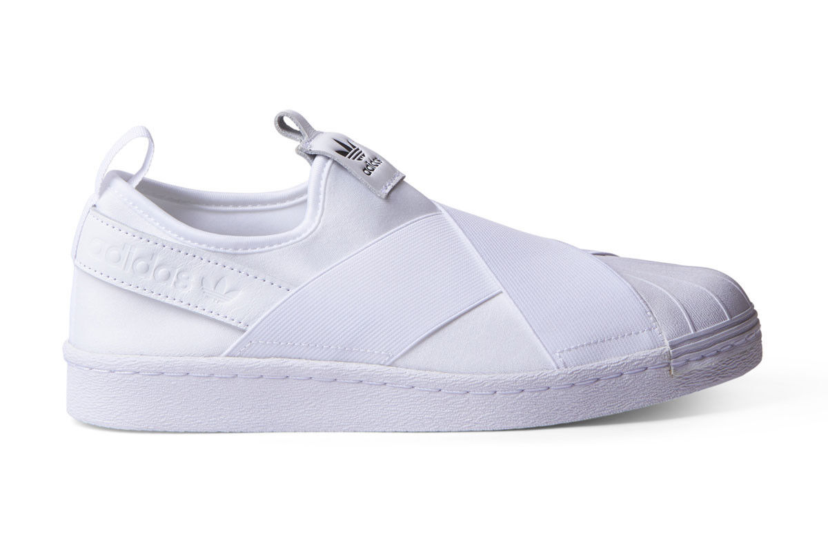NEW WOMENS ADIDAS SUPERSTAR SLIP ON ON ON SNEAKERS S81338-SHOES-SIZES 8.5,9 f0b854