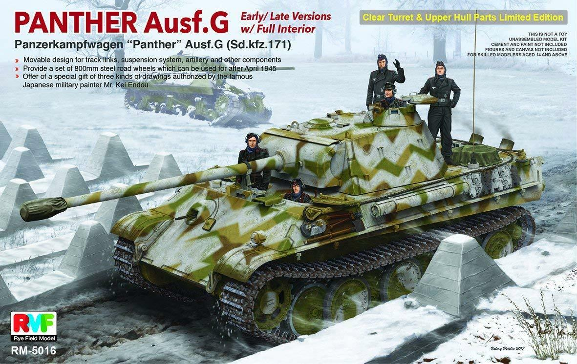 Rye Field 1 35 Panther Ausf.G w Interior Limited Edition  New Release