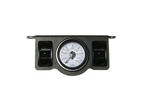 Air Ride Suspension Dual Needle Air Gauge Panel 200psi 2 Rocker Switch Control