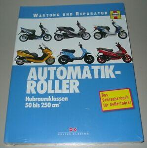 Reparaturanleitung-Automatik-Roller-Motorroller-50-250-cm-Schrauberbuch-NEU