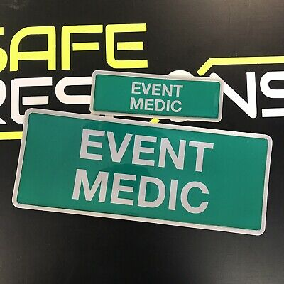 Encapsulated  Reflective EVENT FIRST AID Badge SET 250mm emergency Rescue