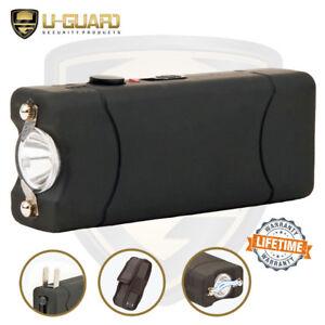 Self-Defense Weapons Powerful Mini Stun Gun LED Flashlight Rechargeable Black