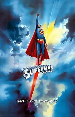Superman: The Movie 27 x 40 Movie Poster, Christopher Reeve, Margot Kidder, SA