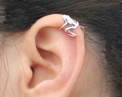 Fashion Punk Silver Tone Frog Cuff Ear Clip Wrap Earring 1PC