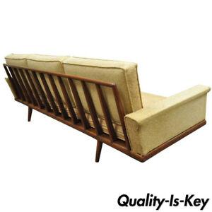 Details About Mel Smilow Smilow Thielle Mid Century Danish Modern Teak Wood Frame Sofa Couch