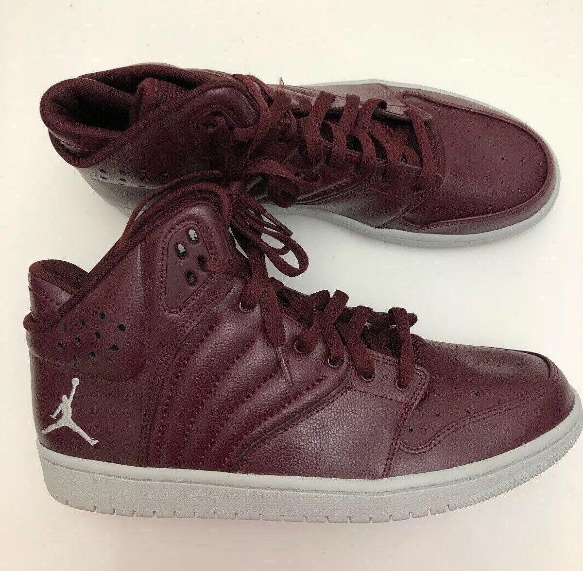 Nike Men's Air Jordan 1 Flight 4 Basketball shoes 820135-600 Night Maroon Sz 11