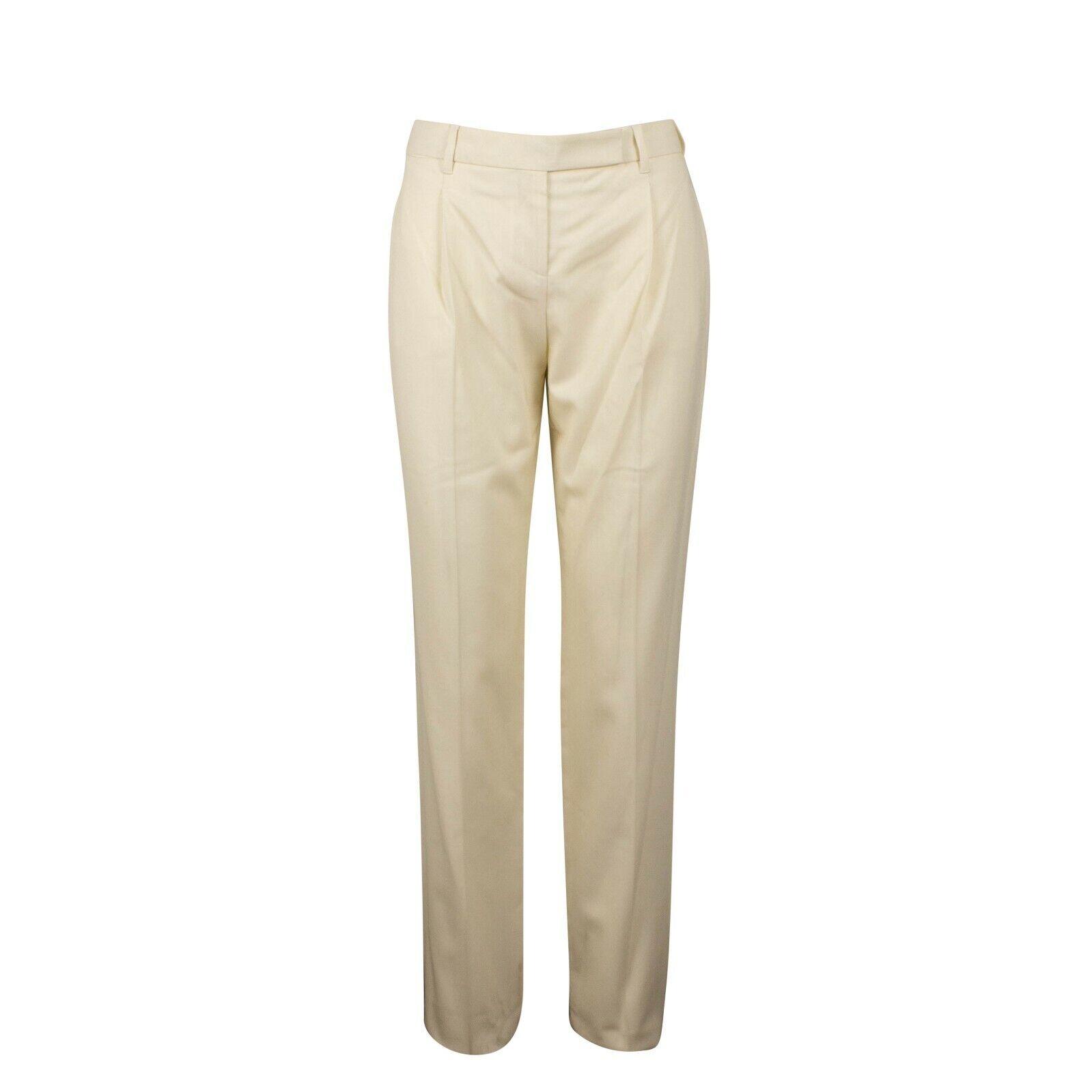 Nuevo con etiquetas VALENTINO Marfil Mezcla  de lana plisada pantalones talla 6 42  1070  barato y de moda